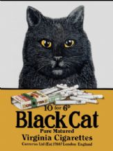 Black Cat Cigarettes  Metal Wall Sign (3 sizes)
